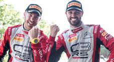 Crugnola piega Basso, è della Citroen il Rally del Ciocco del Campionato Italiano