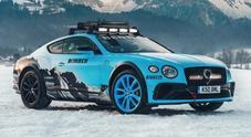 Bentley Continental GT alla GP Ice Race 2020 con Catie Munnings al volante