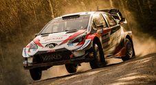 WRC, Evans (Toyota Yaris) al comando in Svezia. Lo insegue Tänak (Hyundai i20 coupé), corse appena 10 stage
