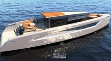 Velar 70, il concept innovativo di Valerio Rivellini: prefigura uno yacht dislocante di 21 metri ispirato alla vela