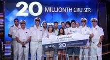 Msc Crociere festeggia il traguardo dei 20milioni di passeggeri a bordo della Seaside