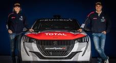 La coppia volante: Andreucci e la miglie Andreussi a caccia del 12° titolo Italiano Rally con la Peugeot 208