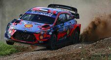 Rally Mondiale in Estonia, due Hyundai precedono tre Toyota: comanda Tanak