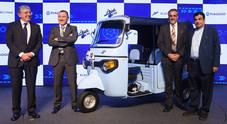 Ape E-City, l'iconico tre ruote Piaggio diventa elettrico. Debutta in India con tecnologia battery swap