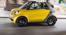 Smart, la nuova generazione accelera: dopo il cambio automatico ecco la Cabrio