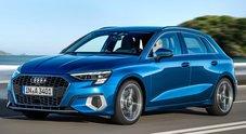 """Audi A3, il 4°atto dall'anima hi-tech è anche ibrida. Trazione """"speciale"""" per celebrare 40 anni del sistema """"quattro"""""""