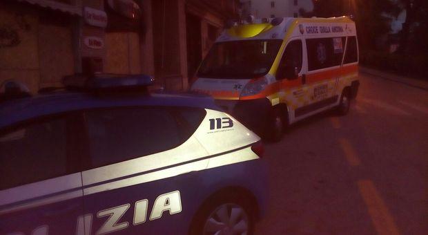 Sul posto polizia e ambulanza, ma soccorsi inutili