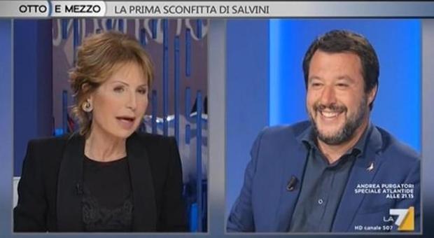 Gruber-Salvini, battibetto a Otto e mezzo: «Non è stato educato». «Le voglio molto bene»
