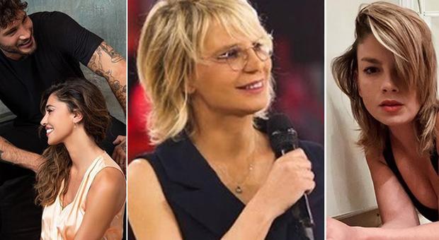 Stefano De Martino, Belen Rodriguez, Maria De Filippi ed Emma Marrone