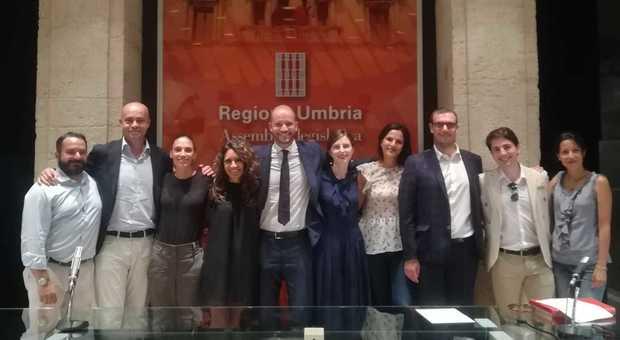 Il direttivo Aiga Perugia, al centro il presidente Ciglioni