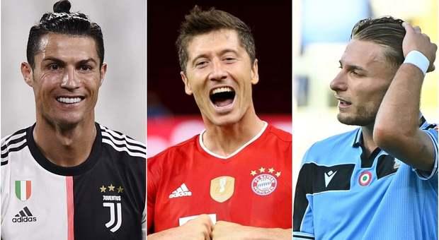 Scarpa d'oro: Immobile e Ronaldo, volata per superare Lewandowski