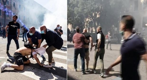 Ultrà e Forza Nuova in piazza, alta tensione al Circo Massimo: mobilitati centinaia di agenti
