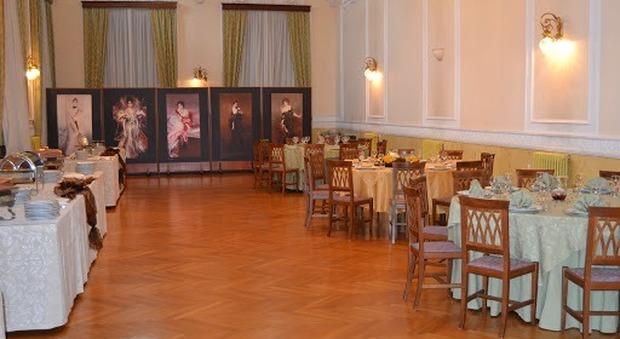 Il salone delle feste dell'Istituto Alberghiero di Fiuggi