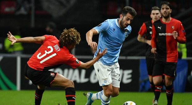 Jony in azione contro il Rennes (foto ROSI)
