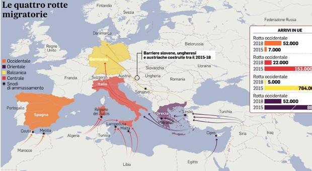 Focolai migranti, la nuova tratta per l'Italia passa a Oriente: dall'Iran alla Grecia