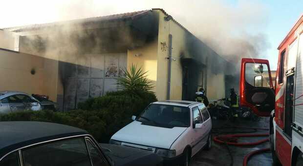 L'incendio a Sava
