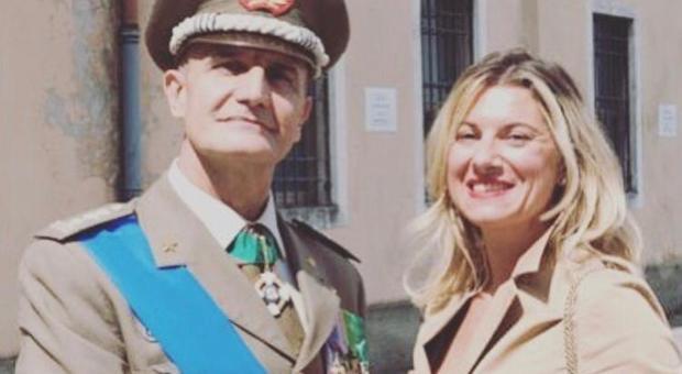 Marina Buffoni con il generale Paolo Serra