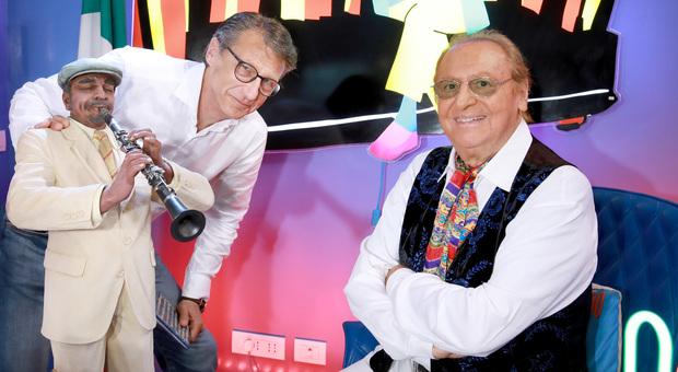 Renzo Arbore con Gegè Telesforo (foto Iwan Palombi)