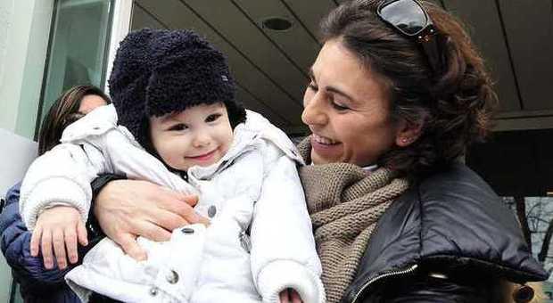 mamma Tiziana con il piccolo Federico