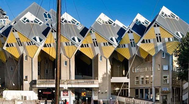 Case cubiche di Rotterdam (foto di Stayokay)