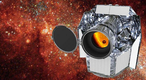 Un'immagine artistica del telescopio spaziale Cheops