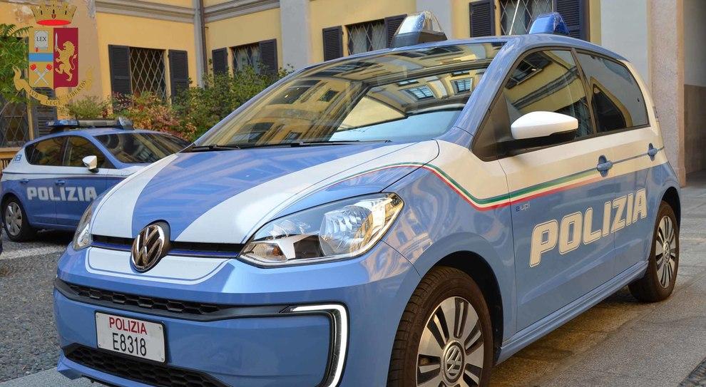 La Volkswagen e-up! con la livrea della Polizia di Stato