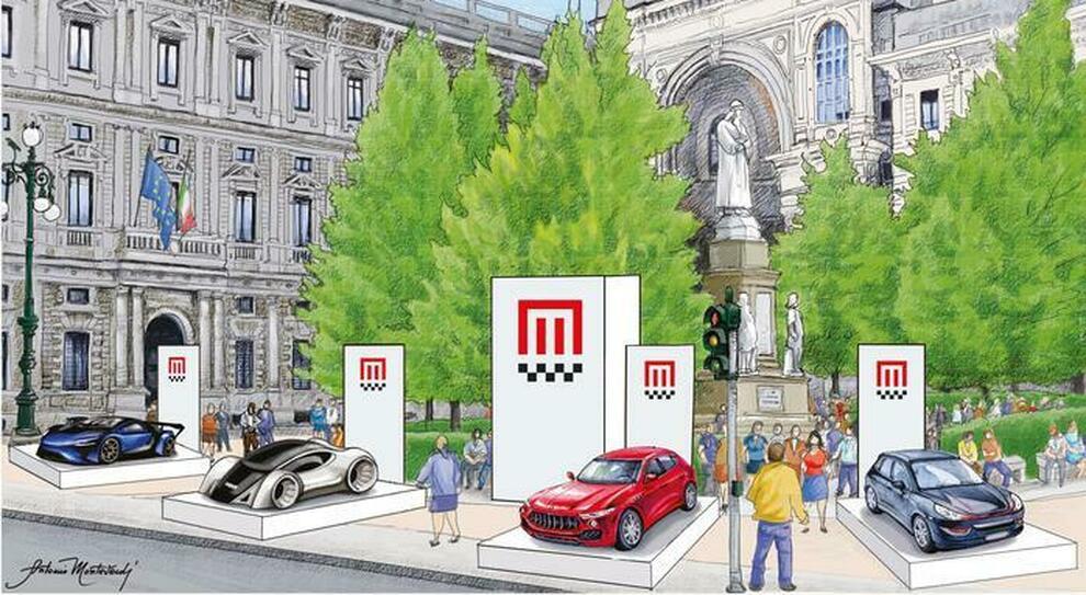 Un rendering di come sarà il Milano Monza Open Air Show