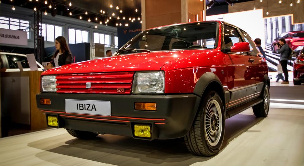 La Seat Ibiza storica esposta a Padova