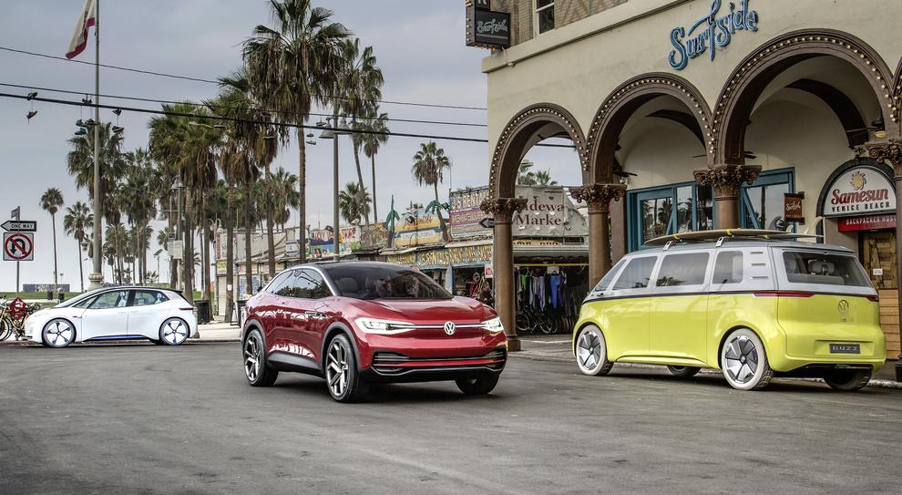 Alcuni dei modelli della gamma ID di Volkswagen