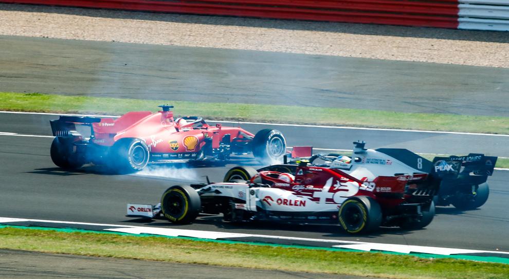 Il testacoda di Vettel a Silverstone