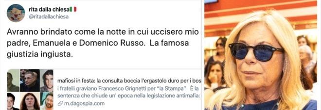 Rita Dalla Chiesa, permessi ai mafiosi ergastolani: «Avranno brindato come quando uccisero mio padre»