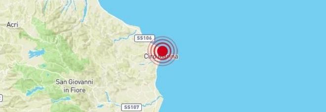 Terremoto a Cirò Marina di 3.2 avvertito a Crotone e sulla costa jonica della Calabria