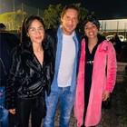 Nainggolan, la moglie Claudia e la sorella Riana vanno a trovare Francesco Totti