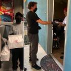 Alex Del Piero a Los Angeles consegna personalmente cibo del suo ristorante alle famiglie in difficoltà