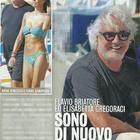Flavio Briatore ed Elisabetta Gregoraci in Versilia con Nathan Falco (Diva e donna)