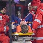 Roma-Juve, infortunio di Zaniolo: centrocampista trasportato in ambulanza in ospedale